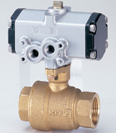 Ball valve made of brass with 10 K pressure actuator