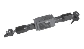 Double throttle/check valve, Type Z2FS 6 Series 40 (New Series)