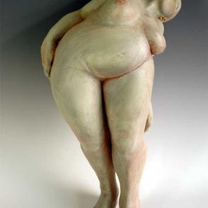 Trial Figure I, 2003. 85 x 26 x 28 cm  earthenware, terrasigilata