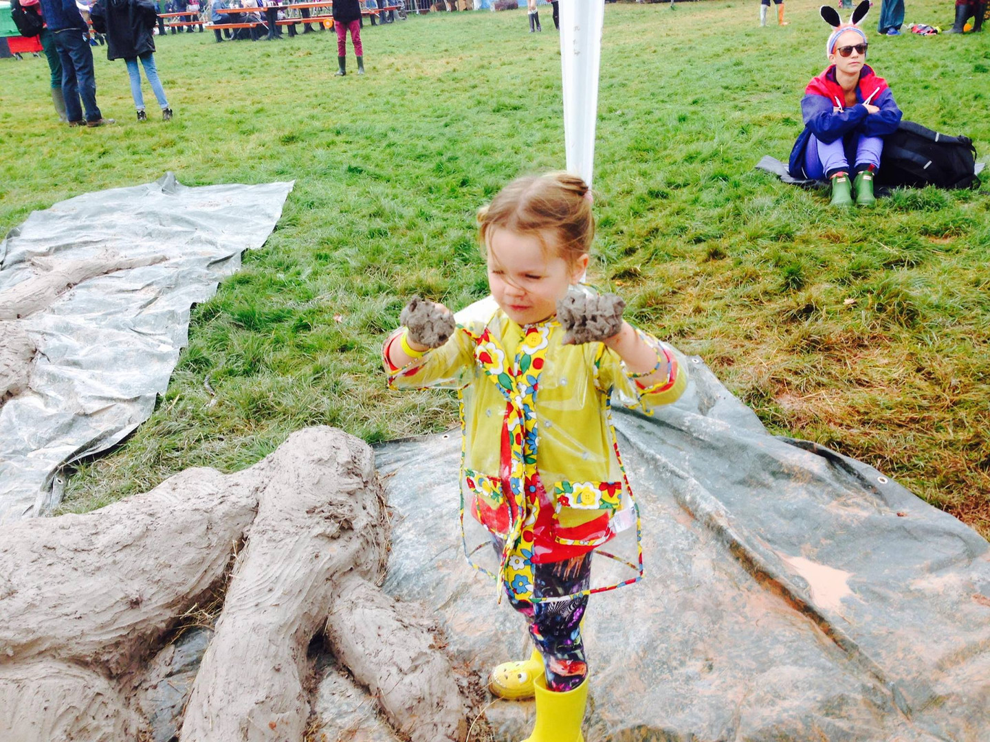 Cob Stomping at the Greenman Festival