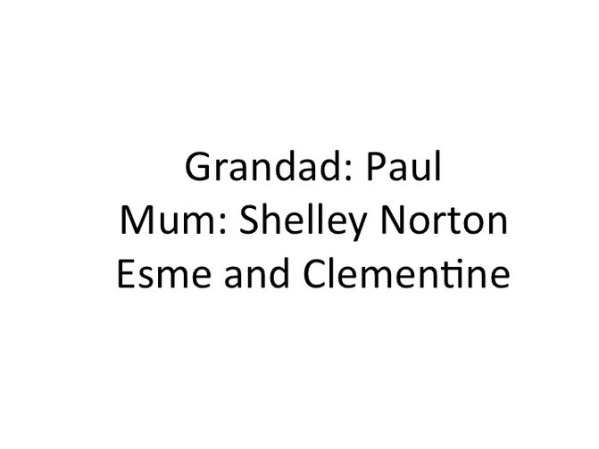 Cross generational Dialogues: Grandad Paul, Mum Shelley, Esme and Clementine