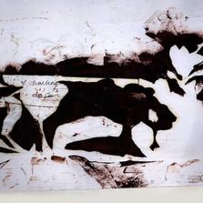 Case Study Two: Lauren Bannister BA Ceramics 2010. Lauren began with a representational floral design.