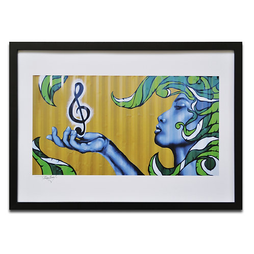 'Gift of Music' A3 Print