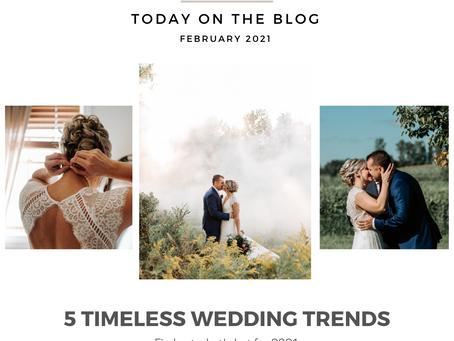 5 Timeless Wedding Trends