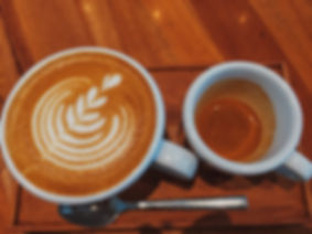 Latte art, espresso