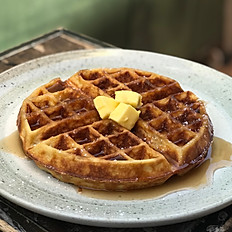 Waffles with butter & maple
