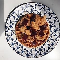 Chicken Karage Waffles