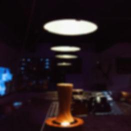 Coffee bar, dramatic lights