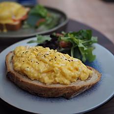 B.Y.O eggs on toast