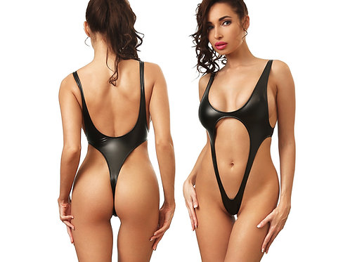 hot fashion extreme black one piece swimsuit thong high cut leg sexy monokini bodysuit women's swimwear bathing suits 2018
