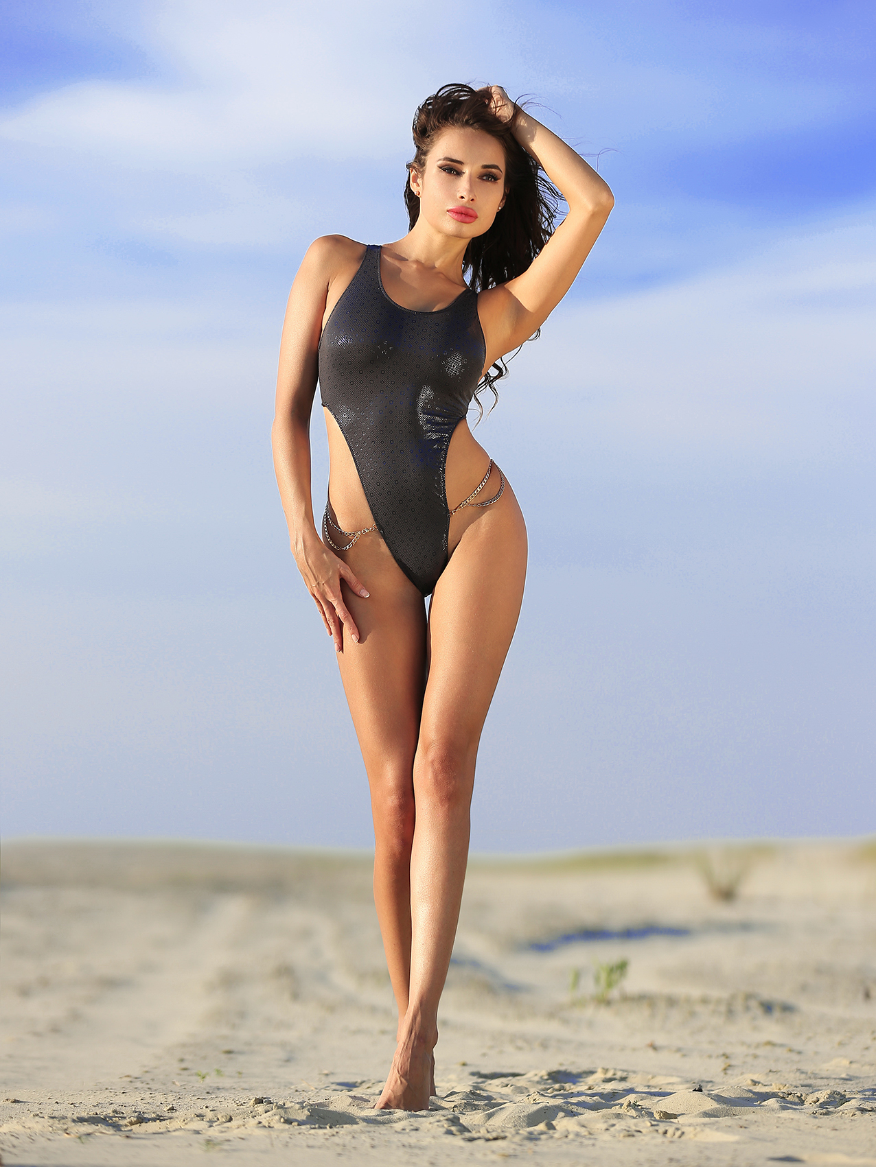 Most fashion hot sexy elite designer swimwear monokini continuous brazilian