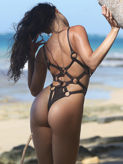 Most fashion hot sexy designer extreme swimwear fetish continuous thong, harness