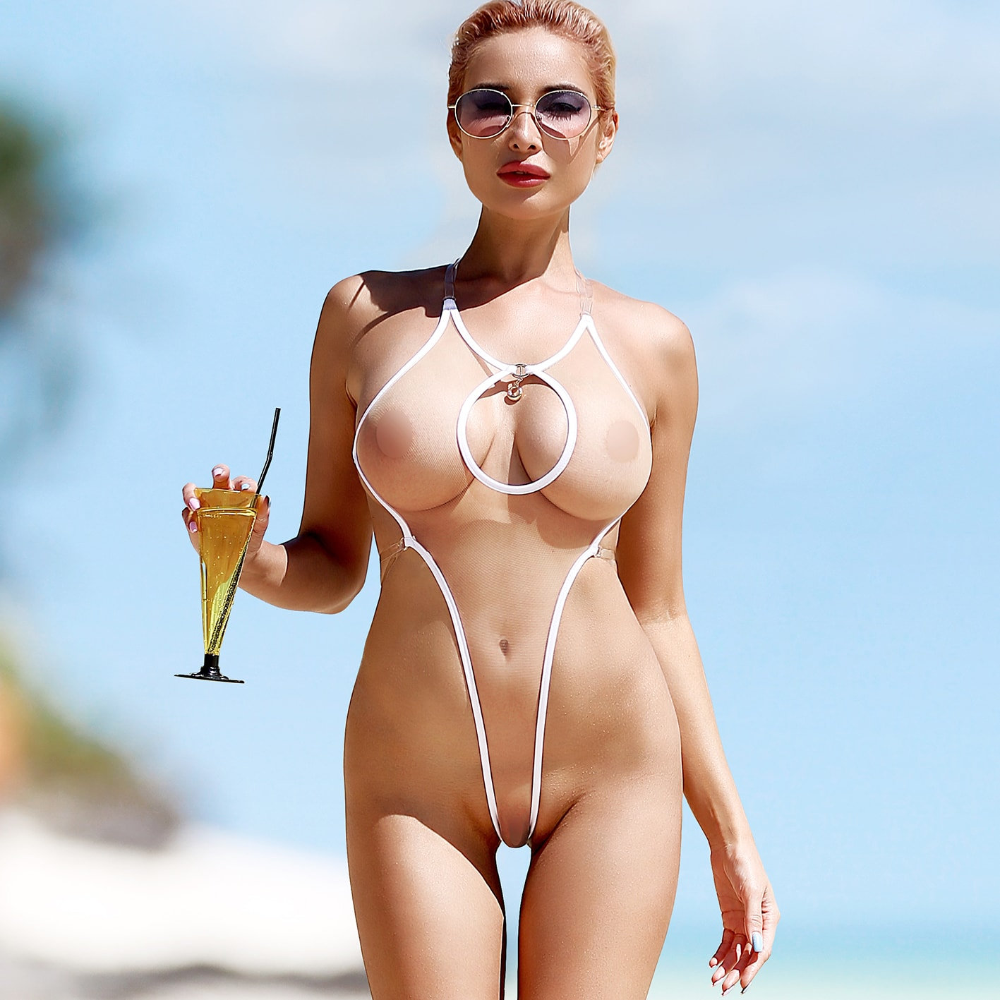 See through womens bathing suits