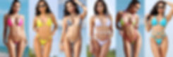 таблица размеров: раздельные купальники бикини, трусики, плавки, чашка, лифчик