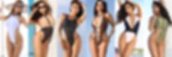 Таблица размеров: слитные купальники монокини сплошные. Стринги и бразилиана.