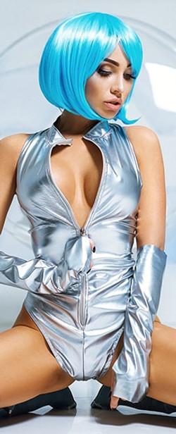 Sexy photo cute hot girl in bodysuit