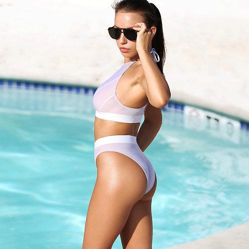 womens swimwear sexy swimsuit bikini set hot bathing suit cheeky bottom bra top brazilian two piece high neck waist cut leg