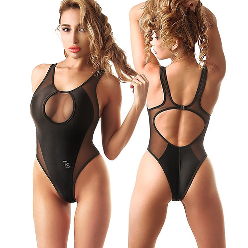 hot fashion beauful designs black sexy one piece sport swimsuit monokni high cut leg body bathing suit women's Swimwear 2018