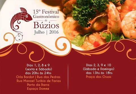Festival Gastronômico de Búzios começa HOJE