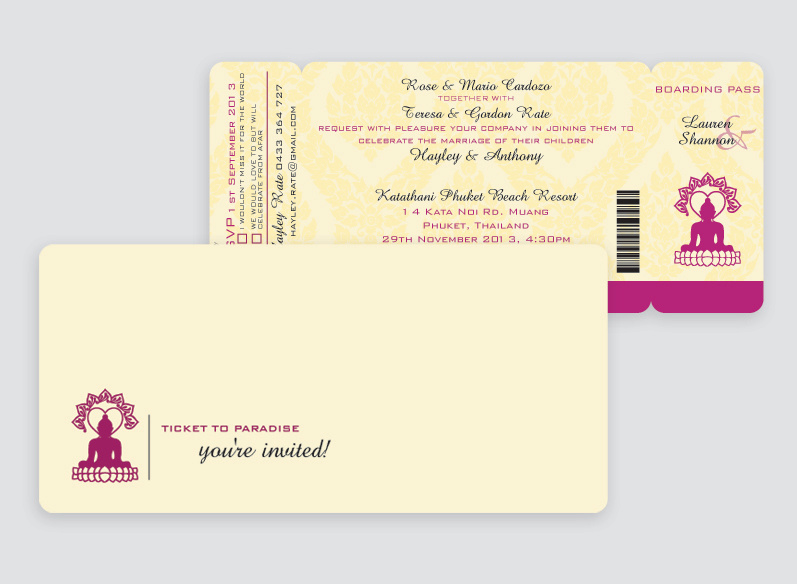 Thailand Wedding Invitation