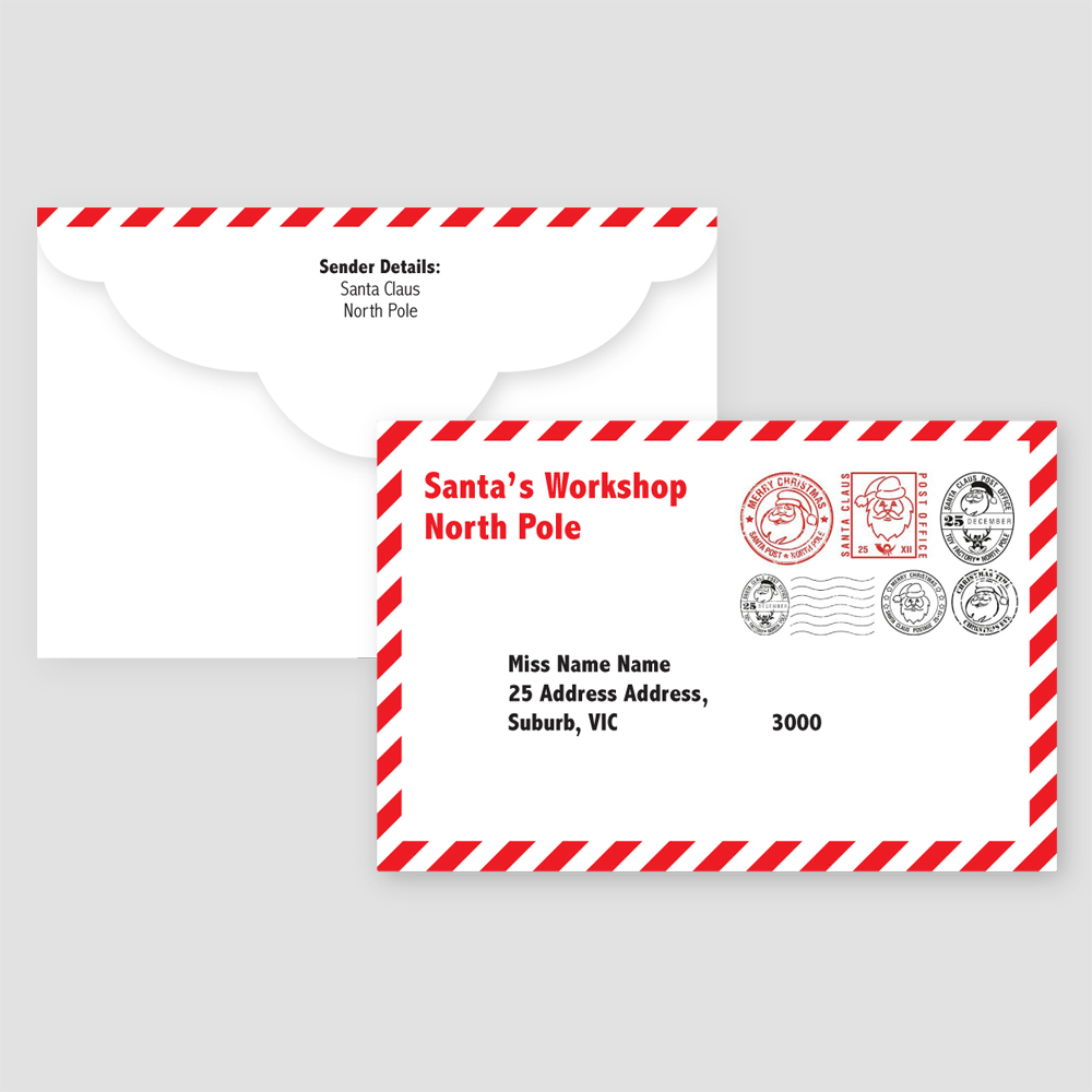 Santa Postal Envelope