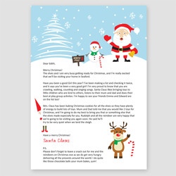 Wintery Wishes Letter
