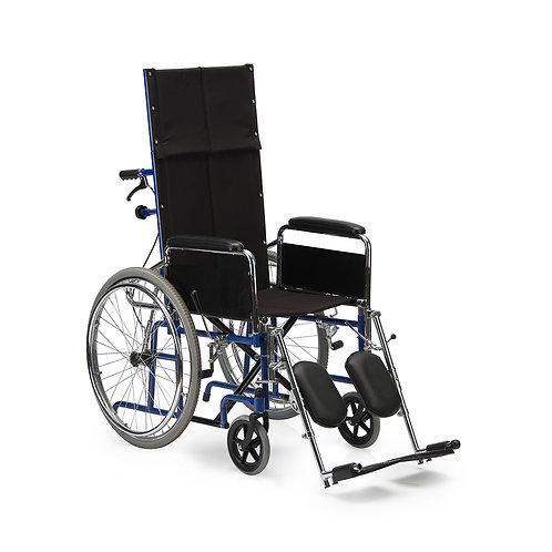 Коляска с откидной спинкой и подголовником для парализованных пациентов