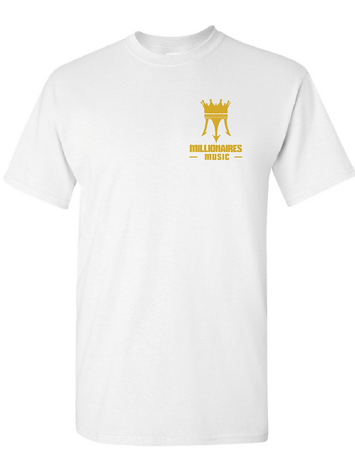 Millionaire Music White T-Shirt