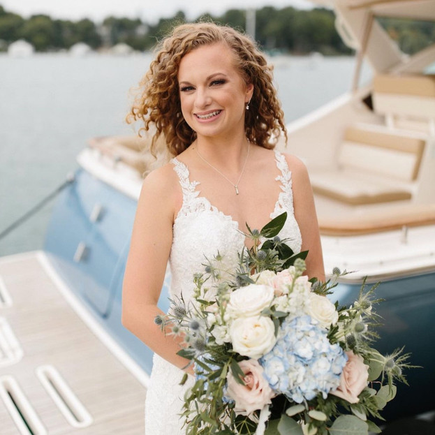 Charlevoix, Michigan bride natural hair and makeup
