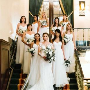 Aquinas Michigan wedding day hair and makeup glamorous