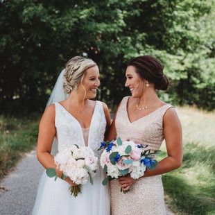 Thousand Oaks Golf Club, Michigan bride and bridal party hair and makeup