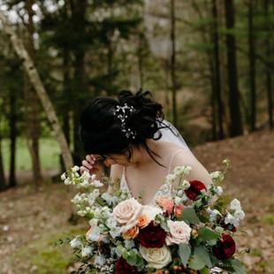 Barothy Lodge Michigan wedding boho hair and makeup