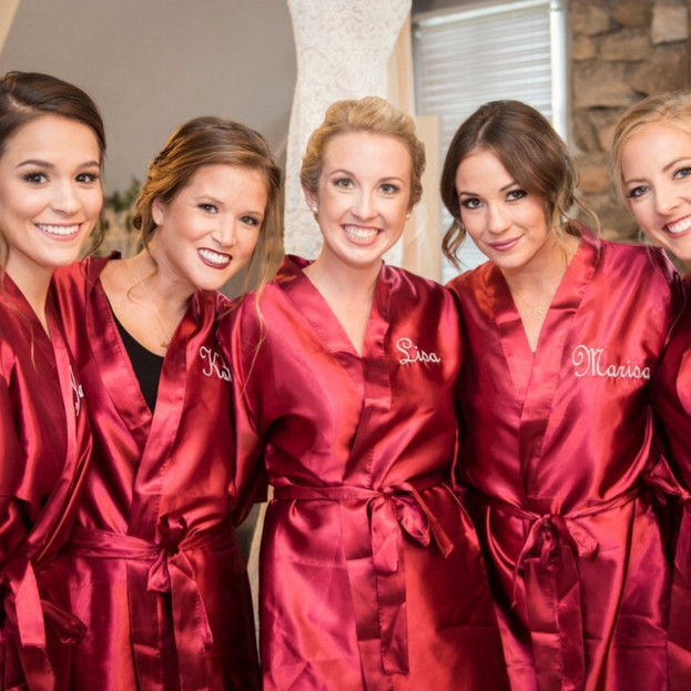 Northern Bride bridal party hair and makeup at Castle Farms Michigan