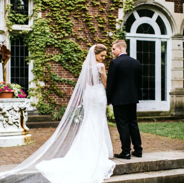 Aquinas Michigan wedding day hair and makeup glamorous