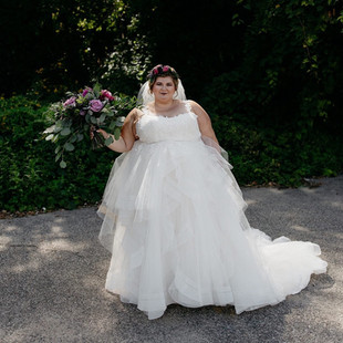 The Cheney Place bride floral crown hair and makeup