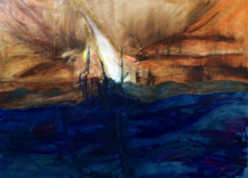 Blue Landscape   Miroslawa Sztuczka Art Gallery