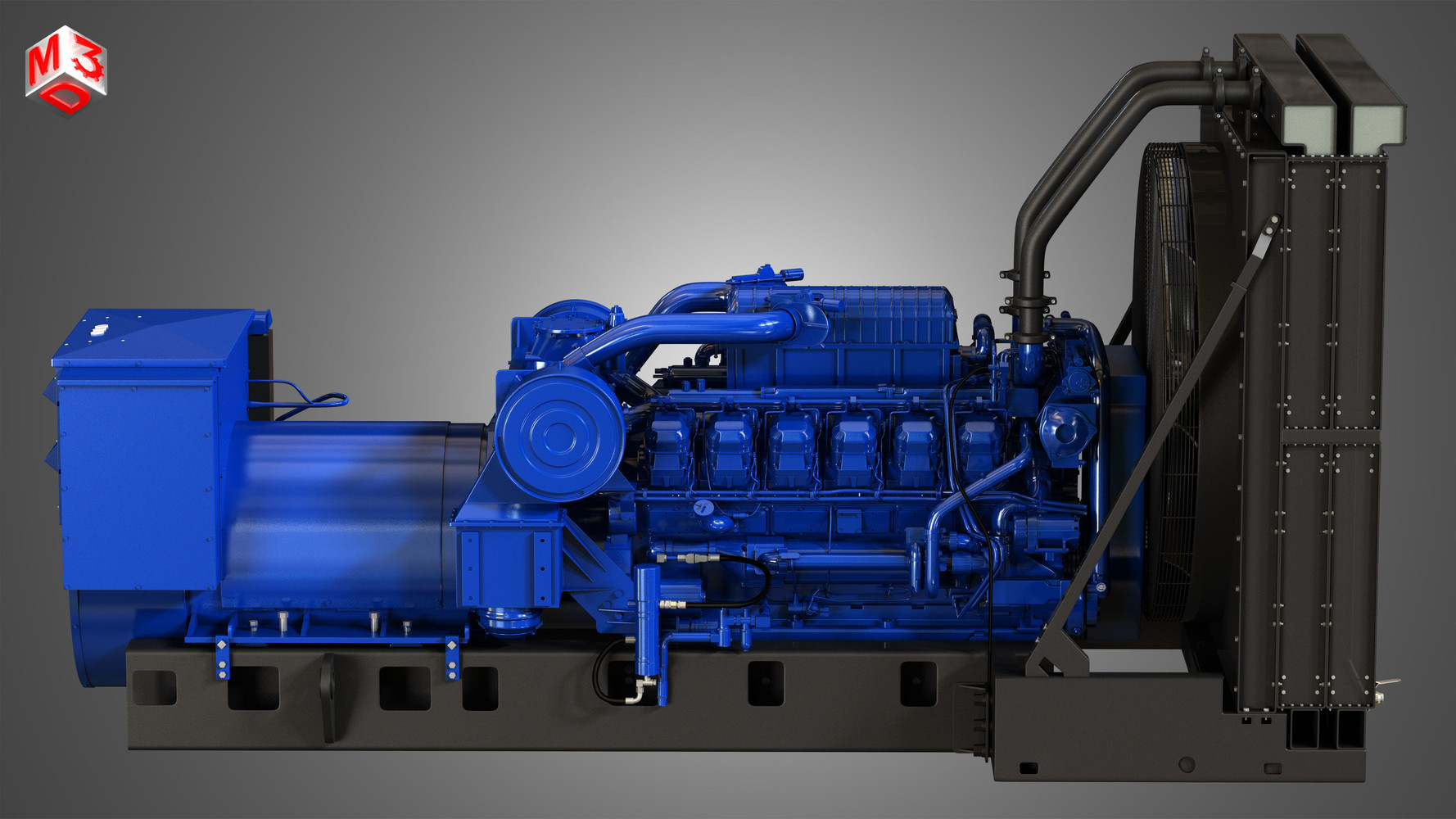 3512-engine-v-12-generator-engine-3d-mod