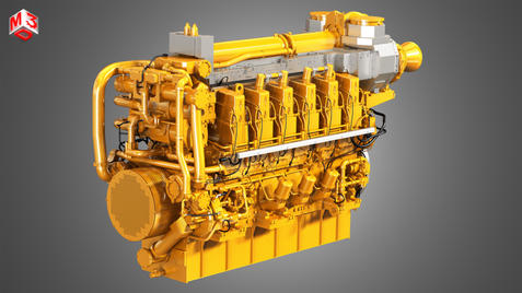 Marine - V12 Engine