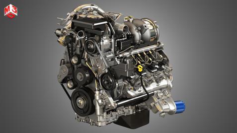 V8 Turbo Diesel Engine