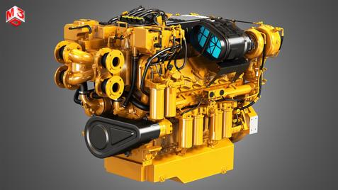 V12 Marine Diesel Engine