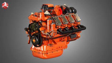 V8 Truck Diesel Engine
