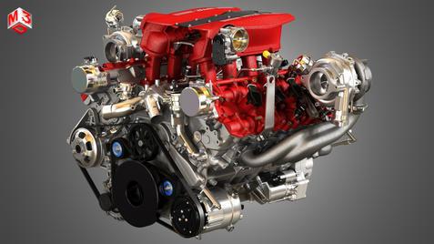 488 GTB V8 Car Engine
