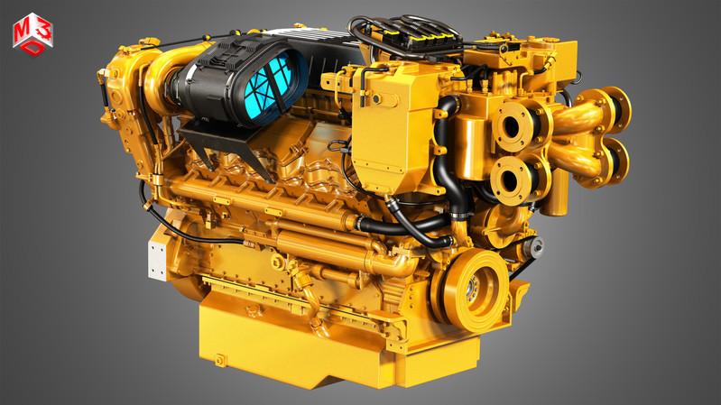 c32-acert-v12-marine-diesel-engine-3d-mo
