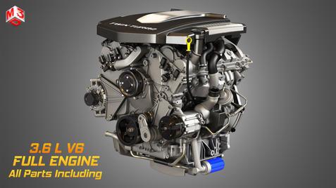XTS Engine - V6 Twin Turbo Engine