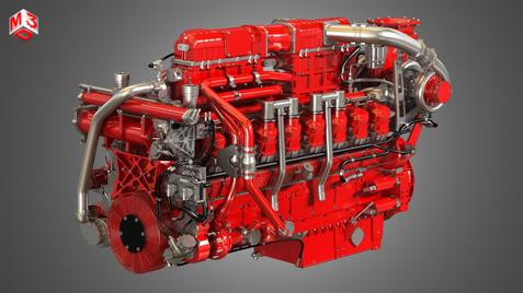 V16 Engine - Marine HD Diesel