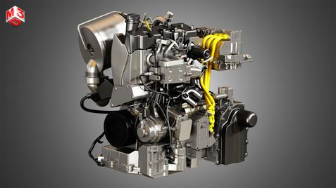 XL1 Diesel-Electric Hybrid Engine