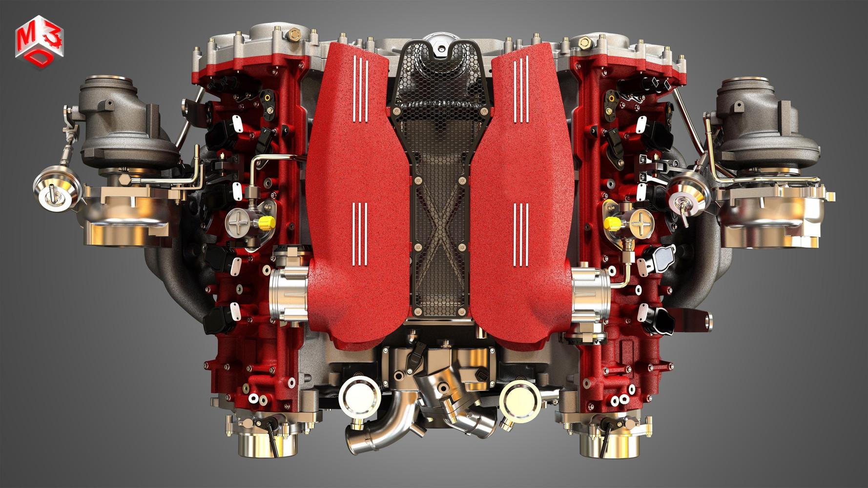 488-gtb-engine-v8-twin-turbo-engine-3d-m