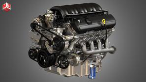 Pickup Truck V8 Engine