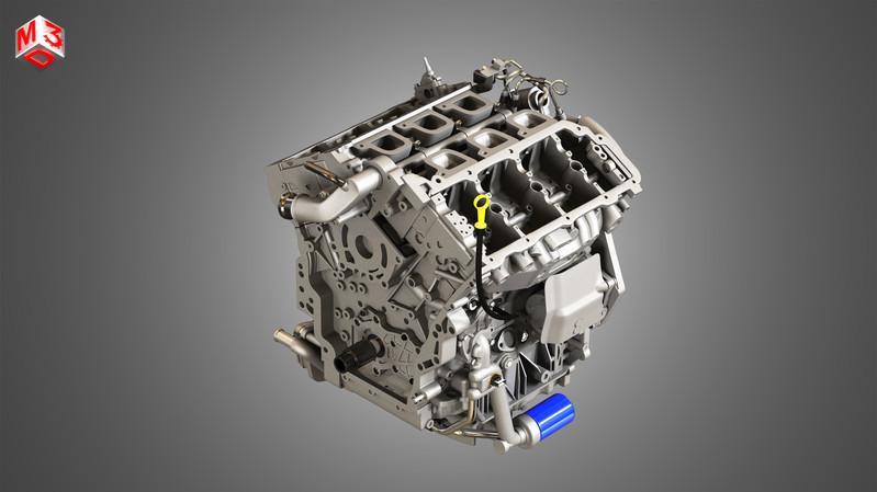 xts-engine-v6-twin-turbo-engine-3d-model