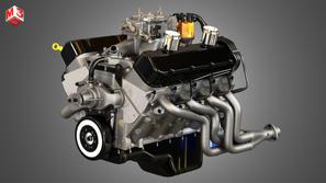 V8 Muscle Car Engine